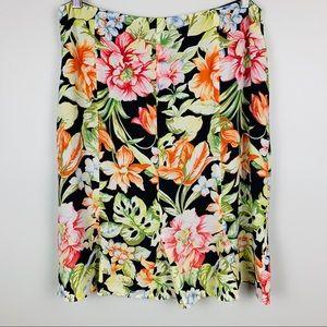 Talbots Silk Floral Tulip Skirt, Size 12